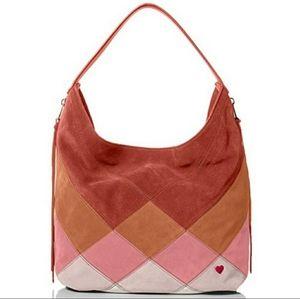 Dear Drew Genuine Suede & Leather Shoulder Bag